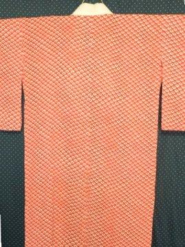 *2割引* 正絹 単仕立ての長襦袢 ☆☆ 【B 】 (63/130/49.5) 鹿の子 アンティーク  ●11/17