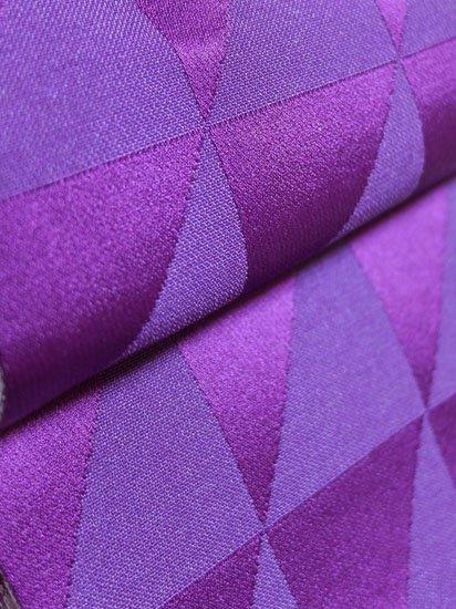 【セットにて販売中】化繊 新品半幅帯 【長尺】 (17.5/398) 鱗紋 桜 -