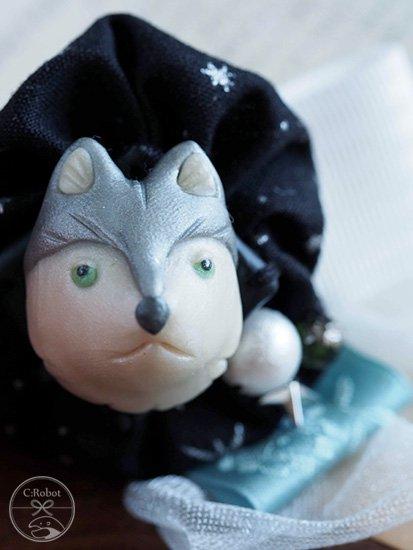《販売終了》 ブローチ 「オオカミと星屑」 ☆☆☆☆☆ 【C:Robotコヤナギアイコ】-
