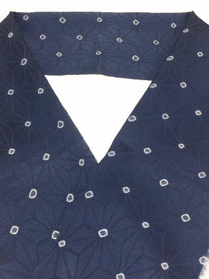 正絹 ハギレの半衿 麻の葉 絞り-1