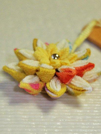帯飾り 黄色 ☆☆☆☆☆ 【手作りいっぱい さんちゃお】-