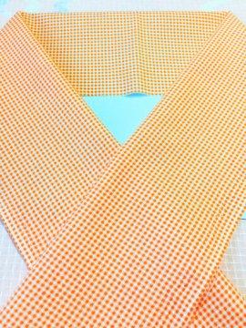 交織 カットクロスの半衿 ギンガムチェック