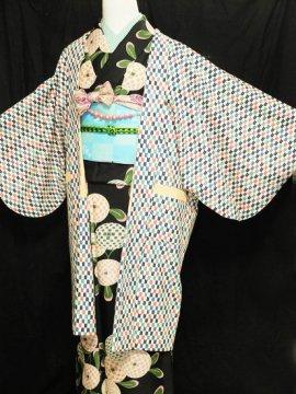 ふだんきもの杏オリジナル「杏コート」Mサイズ 【D/長丈】 (67/96/45) 矢羽根