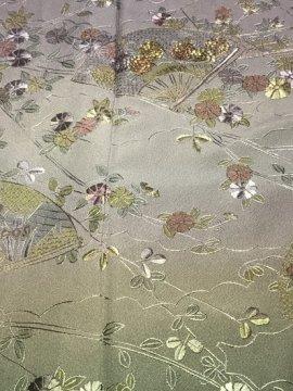 正絹 袷の訪問着 ☆☆ 【D/R/W】 (67/157.5/49) 中古 総刺繍 【洗済】