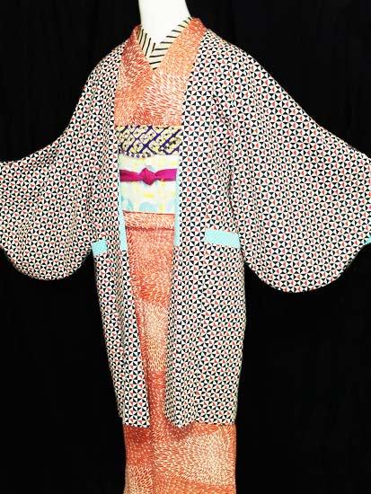 《販売終了》ふだんきもの杏オリジナル「杏コート」Sサイズ 【C/長丈】 (66/90/45) サンカクシカク -1