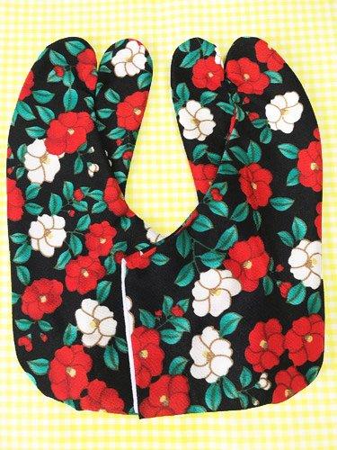 かわいい柄足袋 ☆☆☆☆☆ 4枚コハゼ 椿 23.0/23.5 【新品】-1