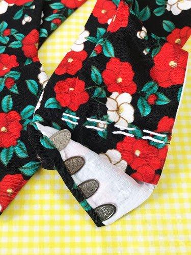 かわいい柄足袋 ☆☆☆☆☆ 4枚コハゼ 椿 23.0/23.5 【新品】-