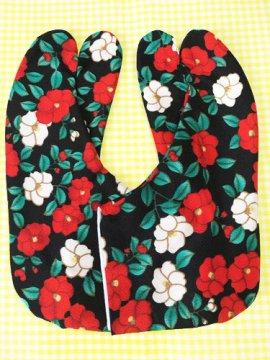 かわいい柄足袋 ☆☆☆☆☆ 4枚コハゼ 椿 23.0/23.5 【新品】