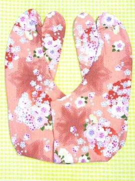 かわいい柄足袋 ☆☆☆☆☆ 4枚コハゼ 桜と麻の葉 24.0 【新品】