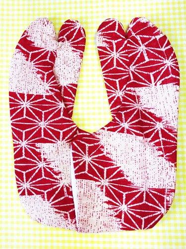かわいい柄足袋 ☆☆☆☆☆ 4枚コハゼ 破れ麻の葉 23.5/24.0 【新品】-1