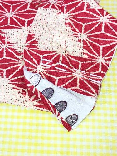 かわいい柄足袋 ☆☆☆☆☆ 4枚コハゼ 破れ麻の葉 23.5/24.0 【新品】-