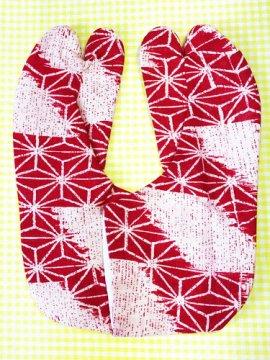 かわいい柄足袋 ☆☆☆☆☆ 4枚コハゼ 破れ麻の葉 23.5/24.0 【新品】