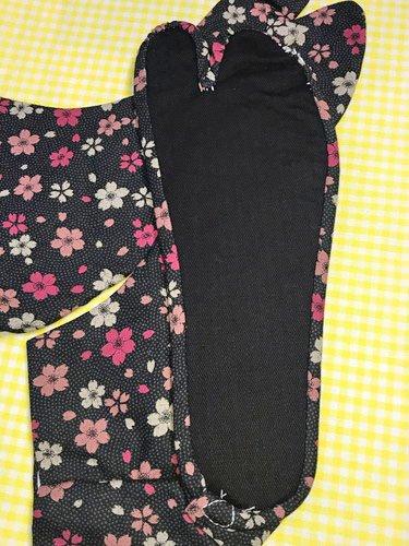 かわいい柄足袋 ☆☆☆☆☆ 4枚コハゼ 鮫小紋と桜 25.0 【新品】-