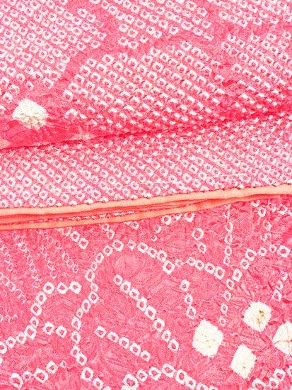 正絹 袷の訪問着 ☆☆☆☆ 【D/M/W】 (67/161/49) 絞り 牡丹 【未使用品】【特選】-