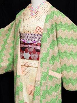 ふだんきもの杏オリジナル「杏コート」Mサイズ 【D/長丈】 (67/96/45) 古典柄-