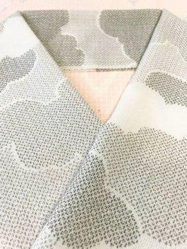 化繊 ハギレの半衿 雲取り 紗
