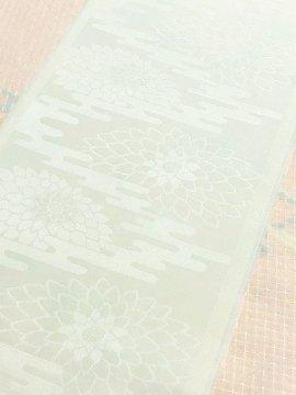 化繊 綸子の半衿 菊 既製品