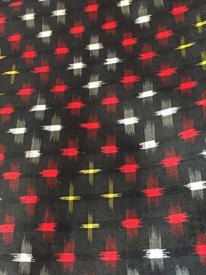 正絹 袷の紬 ★★★★ 【B/R】 (63/154/49.5) 十字 斜め格子 アンティーク-1