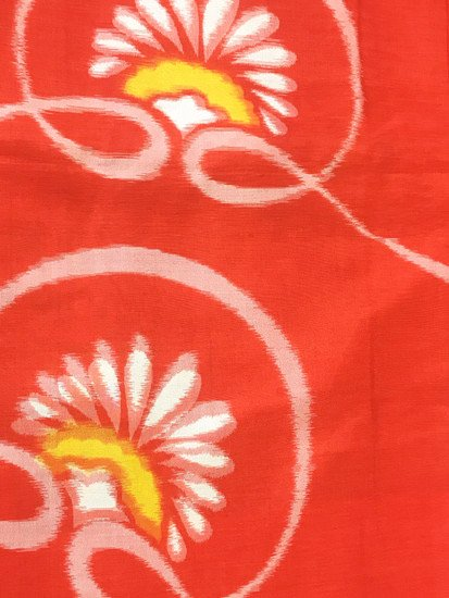 正絹 袷の紬 ★★★ 【B/S】 (63/146/49) 横見菊 アンティーク-1