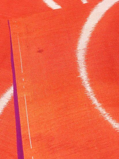 正絹 袷の紬 ★★★ 【B/S】 (63/146/49) 横見菊 アンティーク-