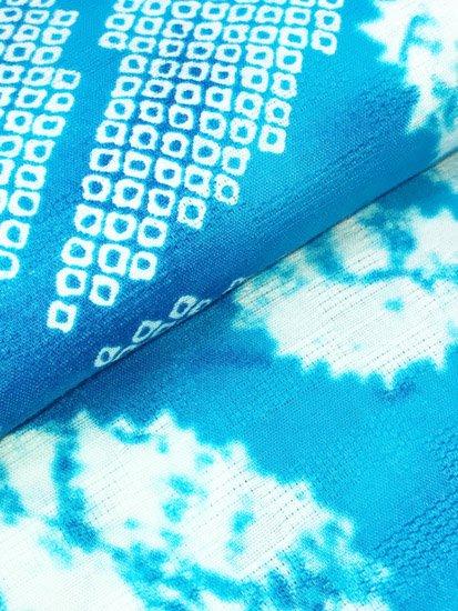 綿 新品の浴衣 ★★★★★ 【D/M/W】(70/164/49)片喰 絞り調-