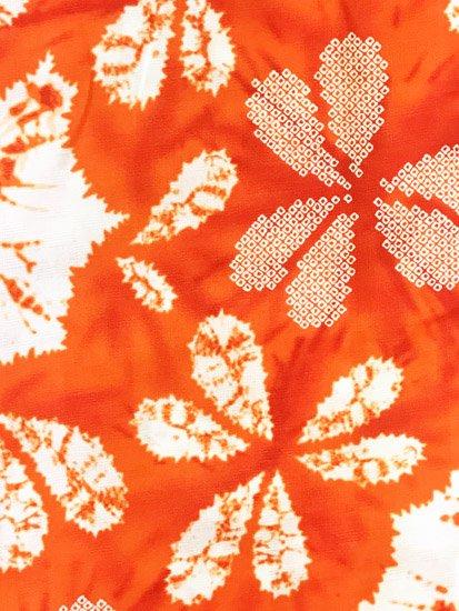 綿 新品の浴衣 ★★★★★ 【D/M】(70/163.5/49)片喰 絞り調 単衣にも♪-