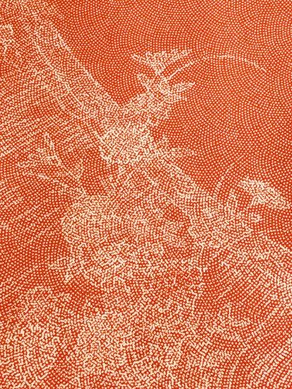 正絹 袷の江戸小紋(柄物) ★★★★ 【B/R】 (64.5/155/49) 巻物 植物紋 中古-1