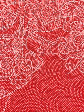 【割引対象】 正絹 袷の江戸小紋(柄物) ★★★★ 【C/R】 (66/155/49) 流水 四季花 割付紋 中古 【特選】