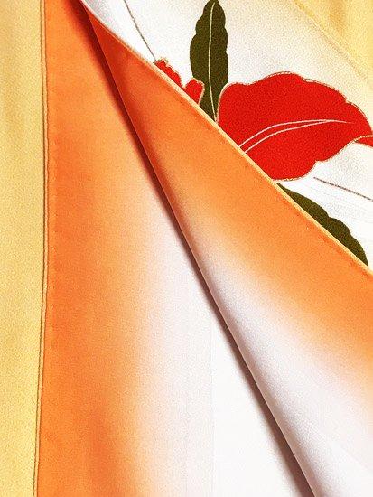 正絹 袷の付下げ訪問着 ★ 【C/M】 (66.5/158/48.5) カトレア 中古-
