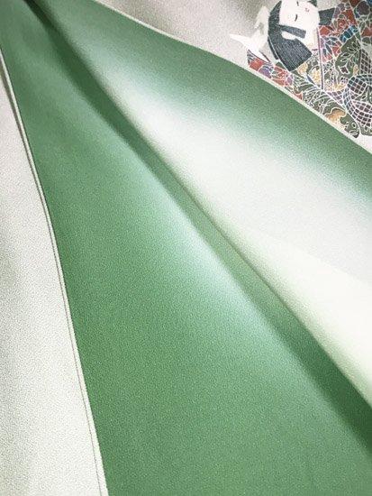 正絹 袷の付下げ訪問着 ★★★ 【D/R】 (67.5/151.5/49) 女の子 菊 中古-