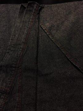 【閉店セール割引】 綿 単衣仕立てのデニム着物Men's ★★★★★ (74.5/145/50) ブラックデニム 【新品】【巡MEGURU】