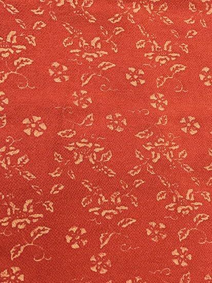 正絹 袷の小紋 ★★★★ 【B/M】 (63.5/160/49) 植物紋-1