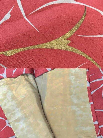 正絹 袷の小紋 ★ 【B/R】 (63.5/155.5/49) 飛鶴 中古-