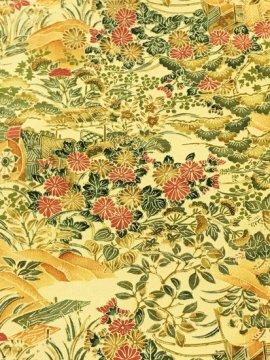 正絹 袷の小紋 ★★★★★ 【B/S】 (63/149/56.5) 植物紋 【未使用品】