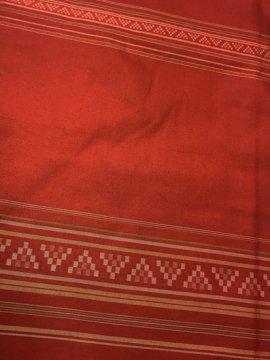 正絹 袷の紬 ★★★ 【C/M】 (65.5/166/46) 幾何学 横段縞 中古