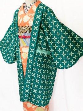 ふだんきもの杏オリジナル「杏コート」Lサイズ 【D/長丈】 (68/101/45) 七宝モチーフ