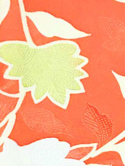 正絹 袷の小紋 ★★★★ 【B/M】 (64/160/49) 植物紋 中古-