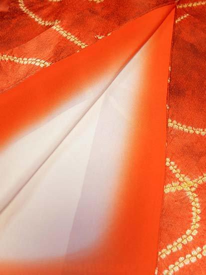 正絹 袷の小紋 ★★★★ 【B/R】 (63/159/50) 縫い絞り 中古-
