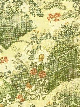 正絹 袷の小紋 ★★★★★ 【B/R】 (63.5/155.5/48.5) 地紙 四季花 衝立 【未使用品】