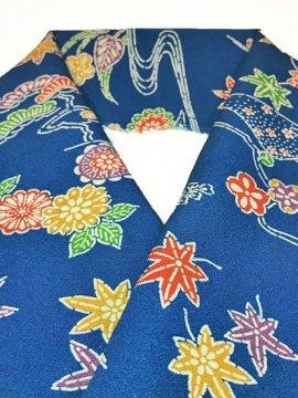 正絹 ハギレの半衿 型染 古典柄