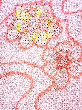 正絹 羽織 ★★★★★ 【B】 (64/74/51) 雲 花 【未使用品】