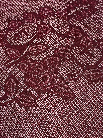 正絹 羽織 ★★★ 【C】 (65/78.5/50) 橘 絞り 中古 -1