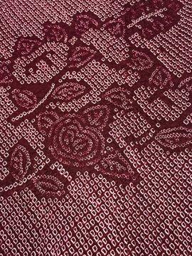 正絹 羽織 ★★★ 【C】 (65/78.5/50) 橘 絞り 中古