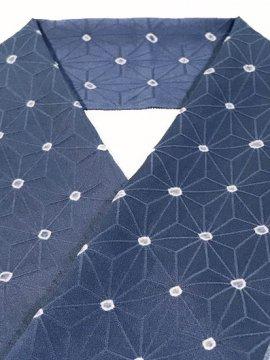 正絹 ハギレの半衿 麻の葉 絞りドット
