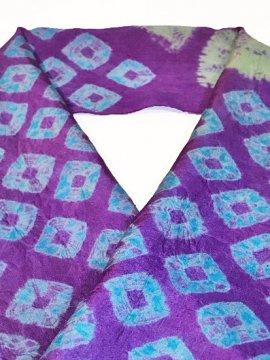 正絹 ハギレの半衿 絞り 花 アンティーク