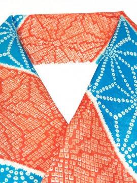 交織 ハギレの半衿 斜め縞 麻の葉