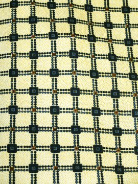 単衣仕立てのウールの着物 ★ 【C/S/W】 (65/150/46) 格天井 ドット 中古