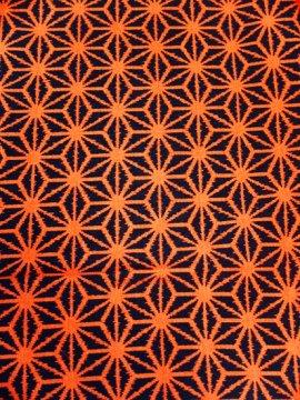単衣仕立ての交織の着物 ★★ 【B/S】 (63.5/149/47) 麻の葉紋 中古