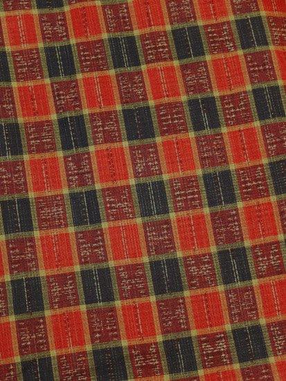 胴抜き仕立てのウールの着物 ★ 【C/R】 (65.5/156.5/49) チェック 中古-1