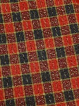 胴抜き仕立てのウールの着物 ★ 【C/R】 (65.5/156.5/49) チェック 中古